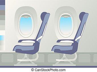 fauteuils, porthole., deux