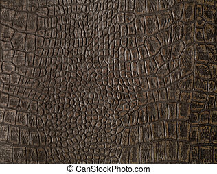 Faux alligator skin