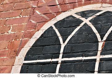 Faux chapel window