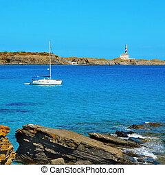 favaritx, 標識, 中に, menorca, balearic 島, スペイン
