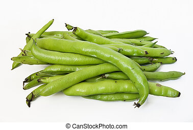 Fave - A group of fava on white isolated background