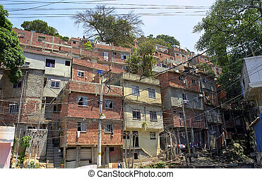 Favela in Rio de Janeiro - Inside a favela in Rio de Janeiro