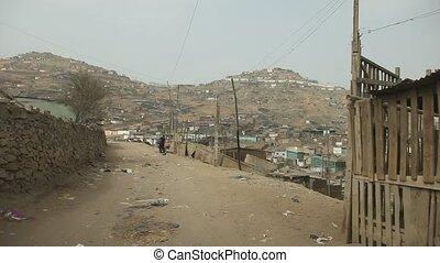 favelas, em, lima, peru