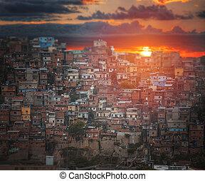 Favelas in the center of Rio
