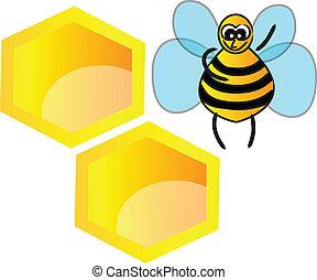 favo mel, abelha