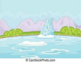 favoloso, cascata