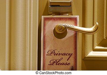 favor, privacidade, porta, sinal