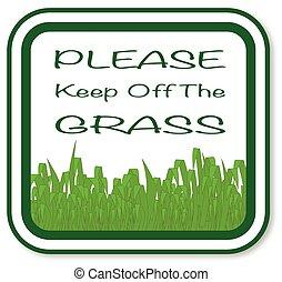 favore, erba, spento, custodire