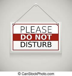 favore, non disturbare, segno, appendere, parete