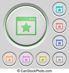Favorite application push buttons