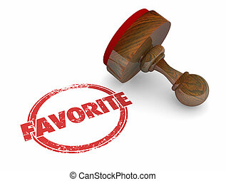Favorite Best Choice Stamp Preferred 3d Illustration