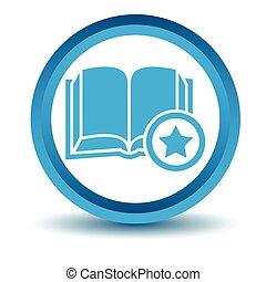 Favorite book icon, blue, 3D