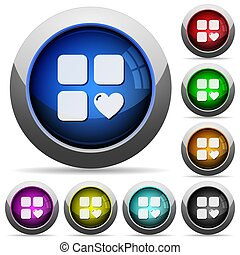 Favorite component round glossy buttons