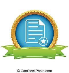 Favorite document certificate icon