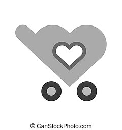 Favorite - Favourite cart, add, trolley, carrier icon vector...