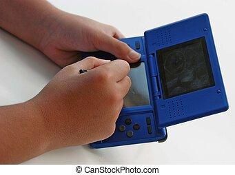 favorite games - child playing his favorite game