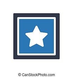 favorite  glyph color icon
