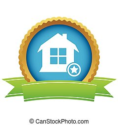 Favorite house certificate icon