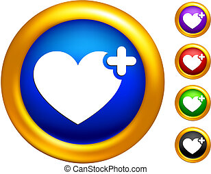 favorite icon on buttons with golden borders