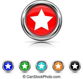 Favorite icon - six colours set