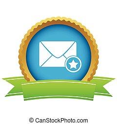 Favorite letter certificate icon