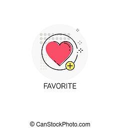 Favorite Love Plus Symbol Icon