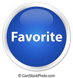 Favorite premium blue round button