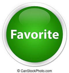 Favorite premium green round button
