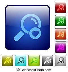 Favorite search color square buttons
