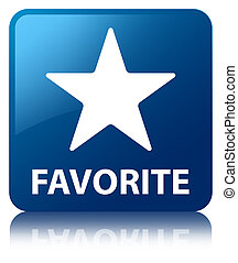Favorite (star icon) blue square button