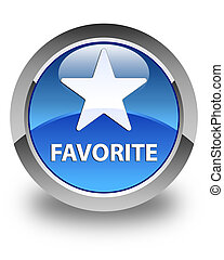 Favorite (star icon) glossy blue round button