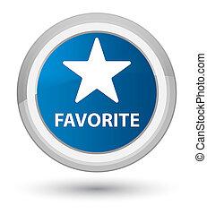 Favorite (star icon) prime blue round button