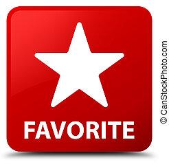 Favorite (star icon) red square button