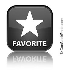 Favorite (star icon) special black square button
