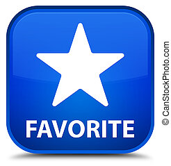 Favorite (star icon) special blue square button