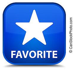 Favorite (star icon) special blue square button