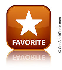 Favorite (star icon) special brown square button