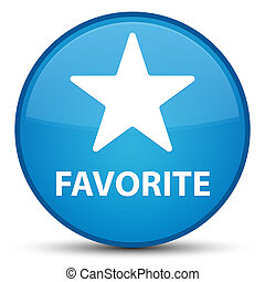 Favorite (star icon) special cyan blue round button