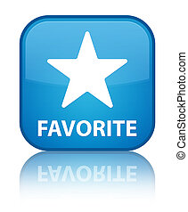 Favorite (star icon) special cyan blue square button