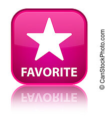 Favorite (star icon) special pink square button