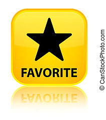 Favorite (star icon) special yellow square button