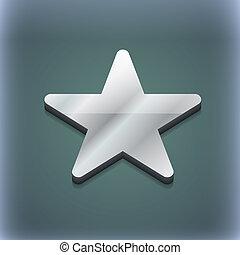 Favorite Star icon symbol. 3D style. Trendy, modern design...