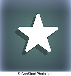 Favorite Star icon symbol on the blue-green abstract...