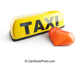 favorite taxi on a white background