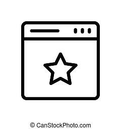 favorite  thin line icon