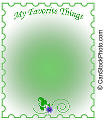 favorite things scrapbook - favorite things border around ...