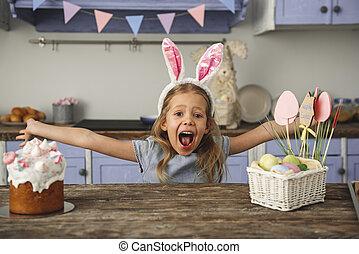 favorito, criança, festa, despreocupado, rejoicing
