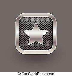 favorito, icon., vector, eps10, ilustración