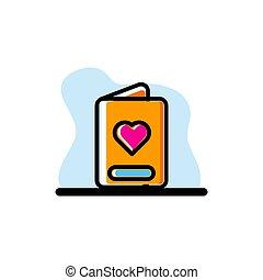 Favourite Book Icon Conceptual Vector Design Illustration
