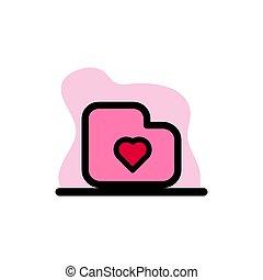 Favourite Folder Icon Conceptual Vector Illustration Design